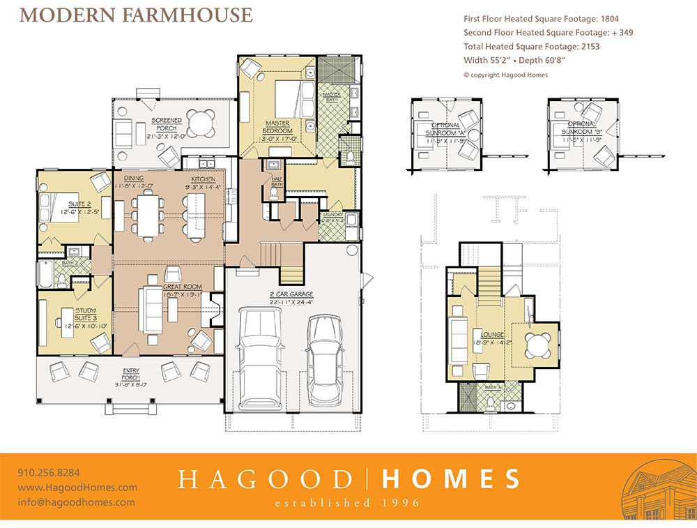 Hagood Proudly Presents The Modern Farmhouse in Comp ... on golf course design plans, golf course clubhouse design, golf course floor plans, golf course home exteriors tuscan style,