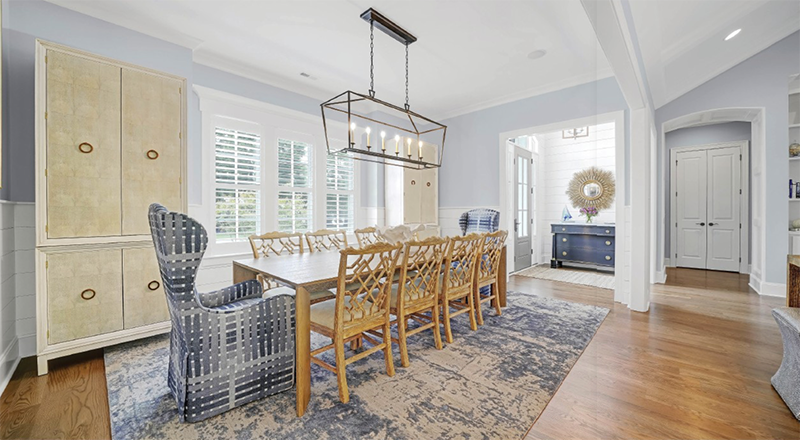 The Hyskos Spent Months Choosing All New Furnishings And Fabrics For Their Home Under Plumides Direction Who Designed Dining Room Around Textured