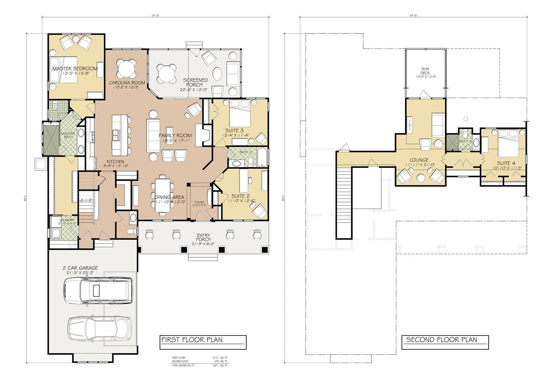 Hagood Homes Shackleford Banks Alternate Floor Plan