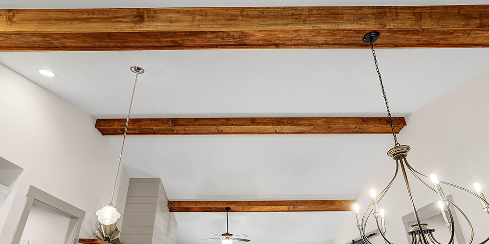 top home builders nc exposed beams modern farmhouse