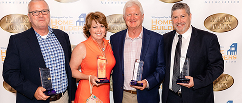 Jim & Troy Kenny are inducted into the Wilmington Cape Fear Home Builder's Hall of Fame